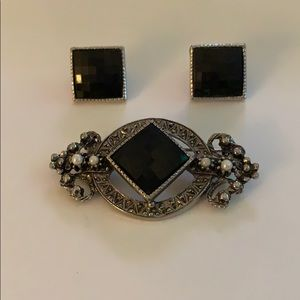 Earring and Brooch Set